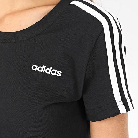 adidas - Tee Shirt Femme A Bandes Essential DP2362 Noir Blanc