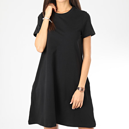 -av Noisy May - Robe Tee Shirt Femme Luni Noir