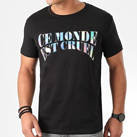 Vald - Tee Shirt Monde Cruel Iridescent Noir
