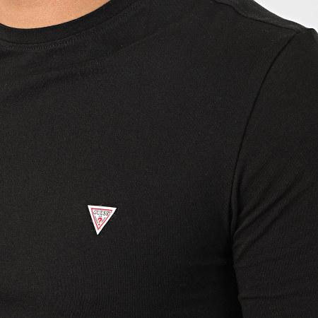 Guess - Tee Shirt Slim Manches Longues M01I34-J1300 Noir