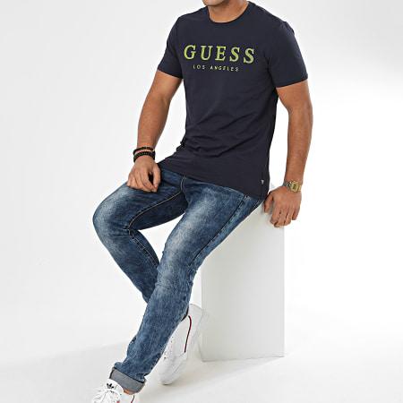 Guess - Tee Shirt Slim M01I54-J1300 Bleu Marine