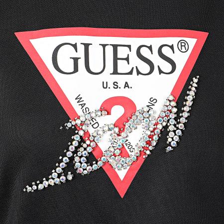 Guess - Sweat Crewneck Femme Avec Strass W01Q74-K7EX0 Noir