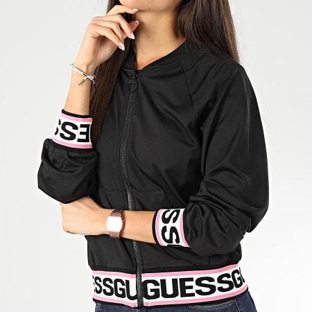 Guess - Veste Zippée Crop Femme W01Q85-RJQ30 Noir