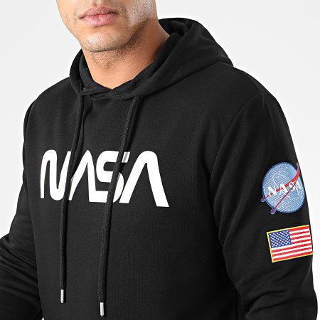 NASA - Sweat Capuche Worm Patches Noir