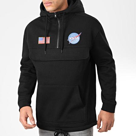 NASA - Sweat Outdoor Col Zippé Patches Noir