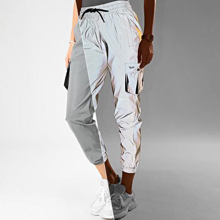 Project X - Pantalon Jogging Femme F194070 Gris Réfléchissant