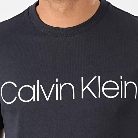Calvin Klein - Tee Shirt Cotton Front Logo 4063 Bleu Marine