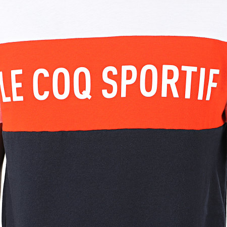 Le Coq Sportif - Tee Shirt Essential Saison N1 2010427 Bleu Marine Orange Blanc