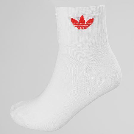 adidas - Lot De 3 Paires De Chaussettes FM0642 Blanc