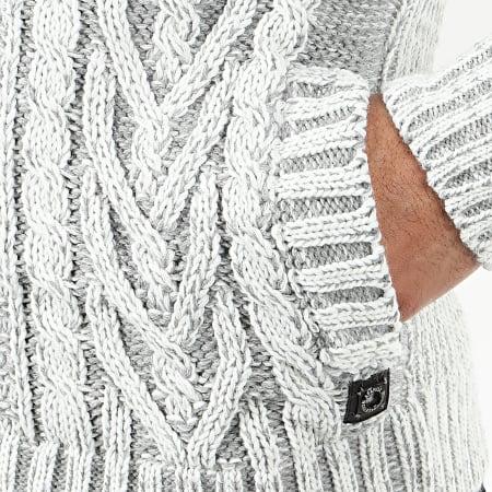 Classic Series - Gilet Zippé Capuche 1016 Blanc Gris