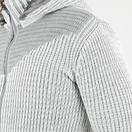 Classic Series - Gilet Zippé Capuche 1009 Gris Blanc