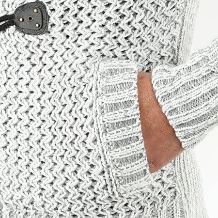 Classic Series - Gilet Zippé Capuche 1019 Blanc Gris