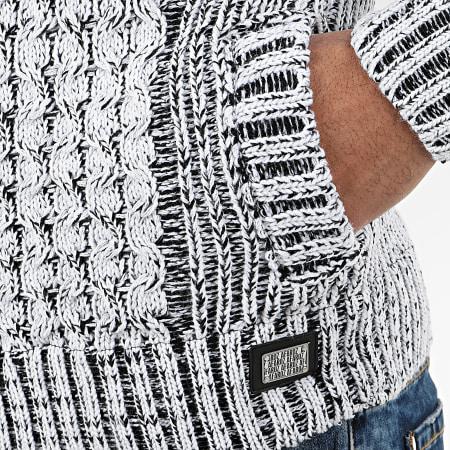 Classic Series - Gilet Zippé Capuche 1013 Blanc Noir