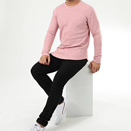 Frilivin - Sweat Crewneck Oversize 5135-A Rose Chiné