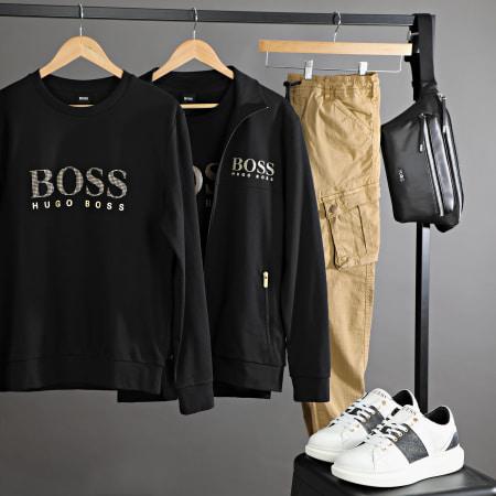 Hugo Boss - Tee Shirt Manches Longues 50420367 Noir Doré
