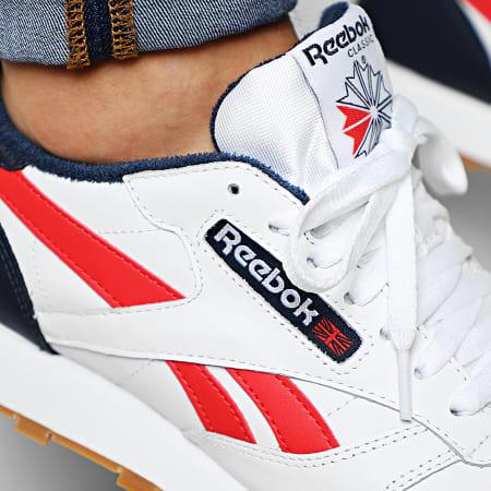 Reebok - Baskets Classic Leather MU EF7827 White Collegiate Navy Radiant Red
