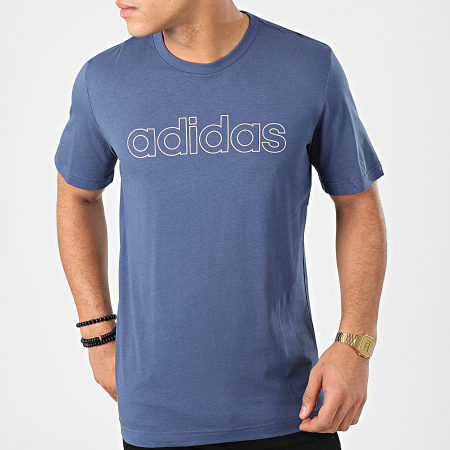 adidas - Tee Shirt Essential FM3442 Bleu Doré