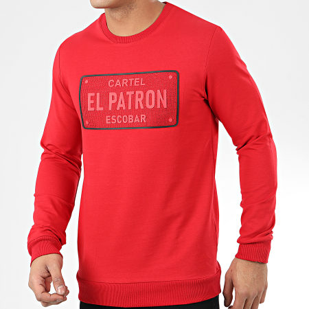 Classic Series - Sweat Crewneck A Strass SW421 Rouge