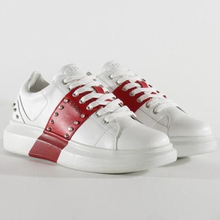 Guess - Baskets FM5KEALEA12 White Red