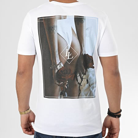 Luxury Lovers - Tee Shirt Roses Are Red Blanc