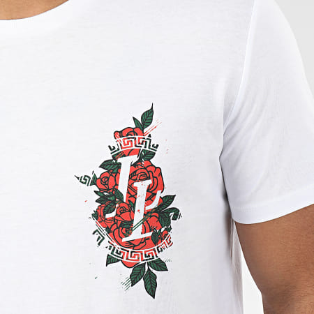 Luxury Lovers - Tee Shirt Flower Grunge Blanc