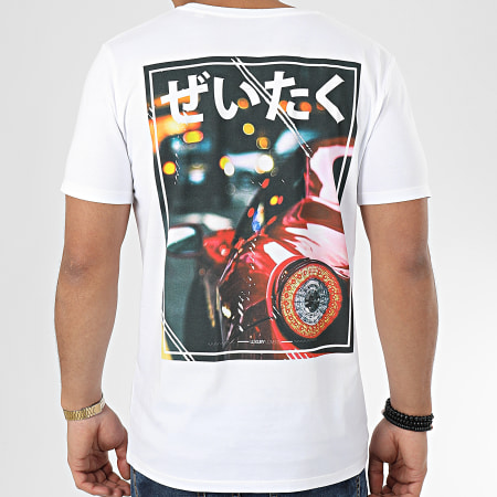 Luxury Lovers - Tee Shirt Luxury Life Blanc Rouge