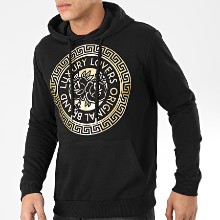 Luxury Lovers - Sweat Capuche Méandres Noir Or
