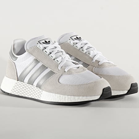 adidas - Baskets Marathon Tech EF4397 Cloud White Silver Metallic Core Black