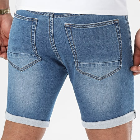 LBO - Short Jean Jogg B1802-2 Bleu Medium