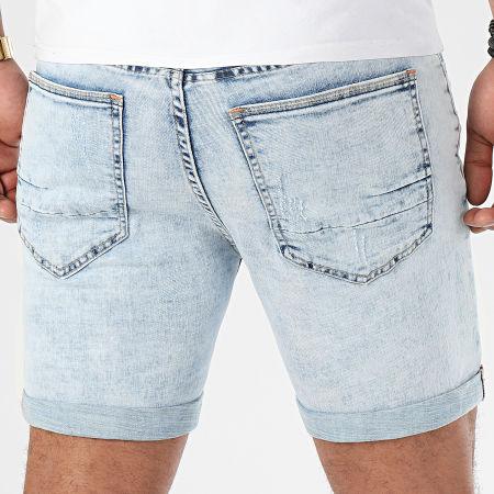 LBO - Short Jean Avec Dechirures BB006 Bleu Clair
