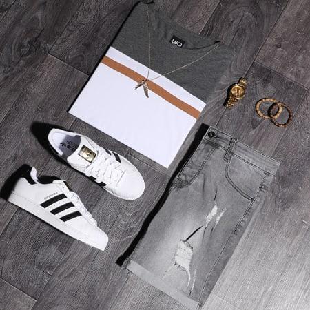 LBO - Short Jean Avec Dechirures LB054-B52 Gris