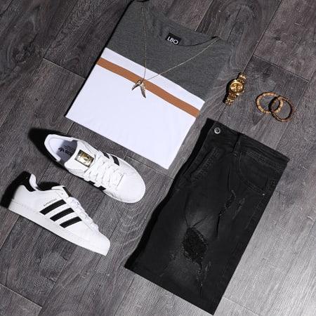 LBO - Short Jean Avec Dechirures LB054-B53 Noir