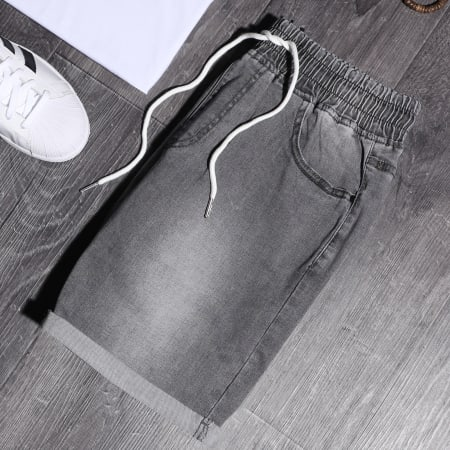 LBO - Short Jean Avec Cordon LB054-B68 Gris