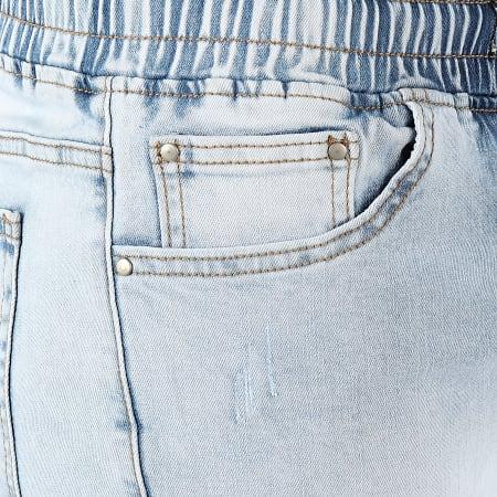 LBO - Short Jean Avec Cordon LB054-B65 Bleu Clair