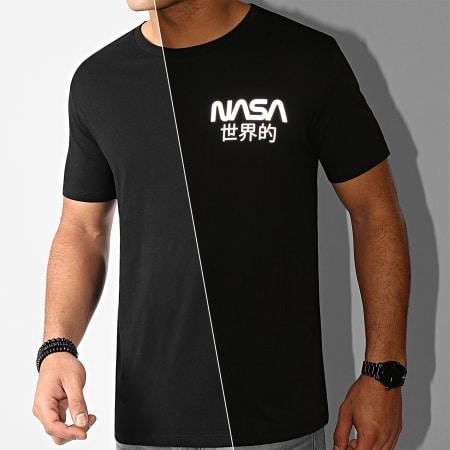NASA - Tee Shirt Mini Worldwide Reflective Noir
