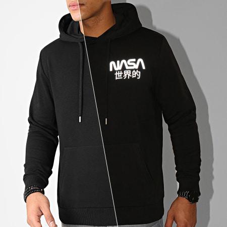 NASA - Sweat Capuche Mini Japan Reflective Noir