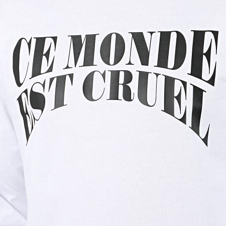 Vald - Tee Shirt Manches Longues Ce Monde Est Cruel Blanc