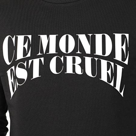 Vald - Tee Shirt Manches Longues Ce Monde Est Cruel Noir
