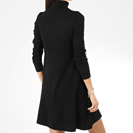 Vero Moda - Robe Pull Col Roulé Femme Appy Noir