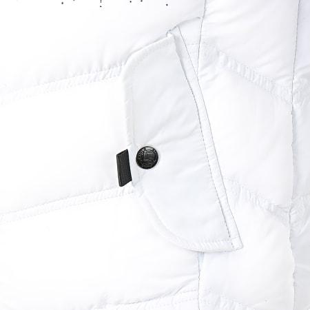 Berry Denim - Blouson Capuche Fourrure 3307A Blanc Noir Dégradé