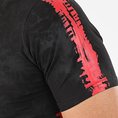 Berry Denim - Tee Shirt A Bandes JAK-137 Noir Rouge