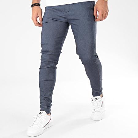 Frilivin - Pantalon Chino 1676 Bleu Chiné
