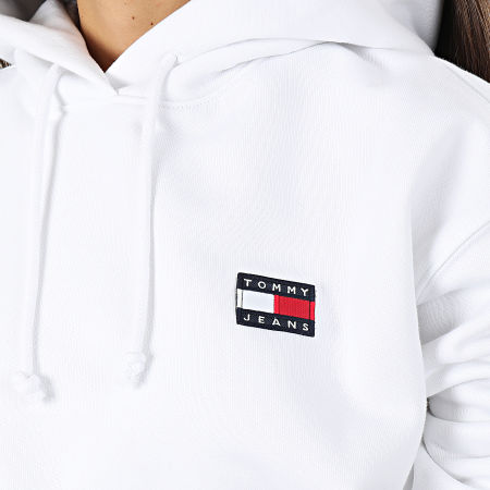 Tommy Jeans - Sweat Capuche Femme Tommy Badge 7787 Blanc