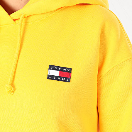 Tommy Jeans - Sweat Capuche Femme Tommy Badge 7787 Jaune