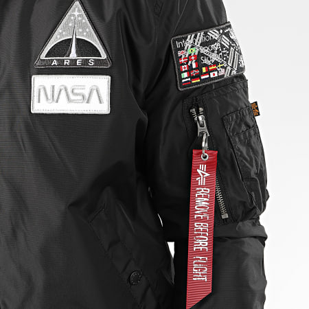 Alpha industries - Bomber Capuche MA-1 TT NASA 126107 Noir