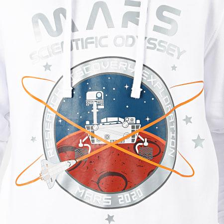 Alpha Industries - Sweat Capuche Mission To Mars 126330 Blanc Argenté