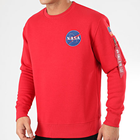Alpha Industries Sweat Crewneck Space Shuttle 178307 Rouge