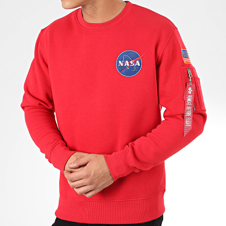 Alpha Industries - Sweat Crewneck Space Shuttle 178307 Rouge
