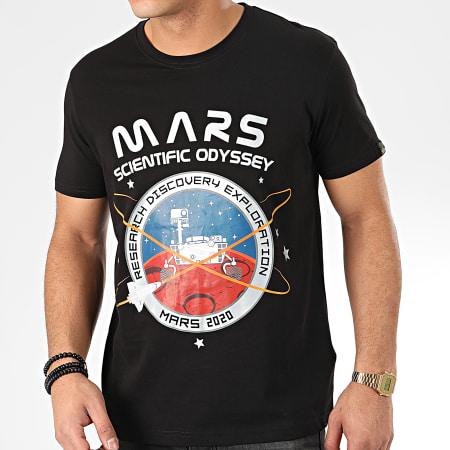 Alpha Industries - Tee Shirt Mission To Mars 126531 Noir Argenté