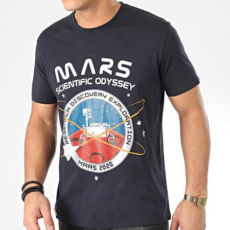 Alpha Industries - Tee Shirt Mission To Mars 126531 Bleu Marine Argenté
